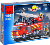Схемы и инструкции Brick - Three Bridge Fire Engines (Пожарная машина) - Brick 904