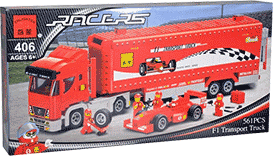Схемы и инструкции Brick - F1 Transport Truck (Трейлер Формулы-1 (F1)) - Brick 406