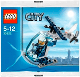 Схемы и инструкции LEGO City - Police Helicopter (Полицейский Вертолет) - Lego City 30222