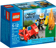 Схемы и инструкции LEGO City - Fire Motorcycle (Пожарный на мотоцикле) - Lego City 60000