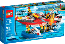 Схемы и инструкции LEGO City - Fire Boat (Пожарный катер) - Lego City 60005