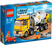Схемы и инструкции LEGO City - Cement Mixer (Бетономешалка) - Lego City 60018
