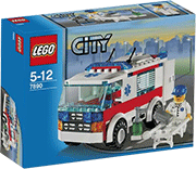 Схемы и инструкции Lego City - Ambulance (Амбулатория на колёсах) 7890