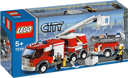 Схемы и инструкции Lego City - Fire Truck (Пожарная машина) - Lego 7239