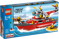 Схемы и инструкции LEGO City - Fire Boat (Пожарный катер) - Lego City 7207