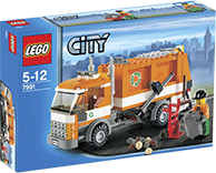 Схемы и инструкции LEGO City - Garbage Truck (Мусоровоз) - Lego 7991