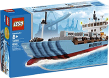Схемы и инструкции LEGO Creator Exclusive - Maersk Line Container Ship 2010 Edition (Контейнеровоз Майорск) - Lego Creator Exclusive 10155