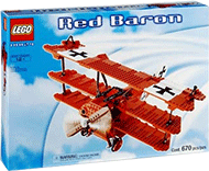 Схемы и инструкции LEGO Creator Exclusive - Red Baron (Красный Барон) - Lego Creator Exclusive 10024