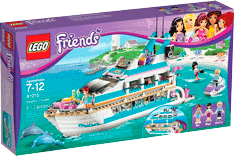 Схемы и инструкции LEGO Friends - Dolphin Cruiser (Круизный лайнер) - LEGO Friends 41015