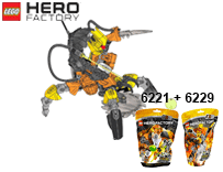 Схемы и инструкции LEGO Hero Factory - Combi 6221 + 6229 (Nex + XT4) - Lego Hero Factory 6221 6229