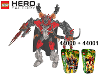 Схемы и инструкции LEGO Hero Factory - Combi 44000 + 44001 (Furno XL + Pyrox) - Lego Hero Factory 44000 44001