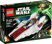 Схемы и инструкции LEGO Star Wars - A-Wing Starfighter (Истребитель A-wing) - Lego Star Wars 75003