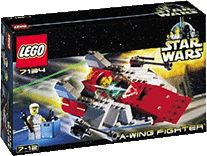 Схемы и инструкции Lego Star Wars - A-wing Fighter (Истребитель A-wing) - Lego 7134